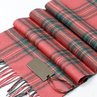 Burnt Orange Scotland Tartan Cashmere Scarf 'Cameron'