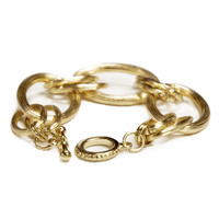 Golden Hoop-Chained Bracelet