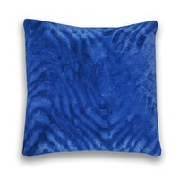 Ashton Faux Fur Pillow Set - Monaco Blue