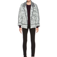Ioline Boiled Wool Jacket in Grey