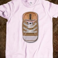 BROWN CASUAL all star converse SHOES KIDS TEE TSHIRT