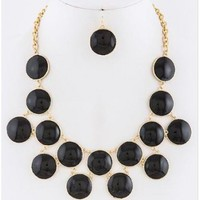 Romantic II Jewel Necklace in Black