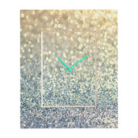Lisa Argyropoulos Snowfall Rectangular Clock