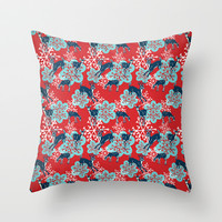 Rudolph & Co. Throw Pillow by Rosy Designs
