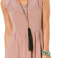 SWELL DARLENE CROCHET INSERT DRESS
