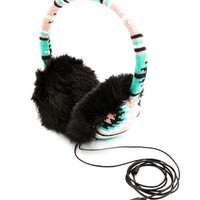 AZTEC KNIT EARMUFF HEADPHONES