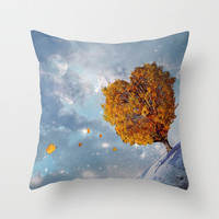 Love Rules the Universe Throw Pillow by Bluepress