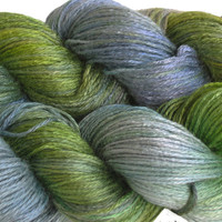 "Hand painted bamboo yarn ""River 3"""