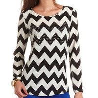 CHEVRON STUD TUNIC TOP