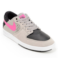 Nike SB P-Rod 7 Low Medium Grey, Pink Foil, & Black Shoe