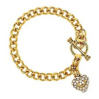 Girls Mini Pave Heart Banner Bracelet