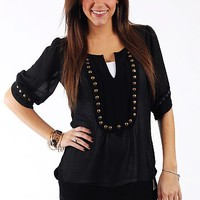Artillery Blouse, Black