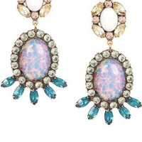 DANNIJO Paz gold-tone Swarovski crystal earrings – 66% at THE OUTNET.COM