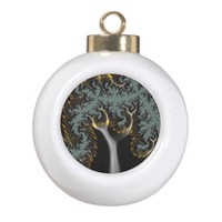 Electric Tree Fractal Abstract Ornament