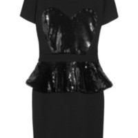 Markus Lupfer Sequin-embellished jersey mini dress – 59% at THE OUTNET.COM