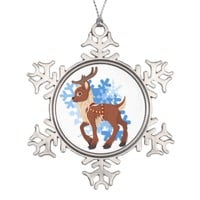 Reindeer and Snowflakes
