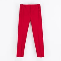 ANKLE-CROPPED TROUSERS