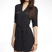ZIP POCKET PORTOFINO SHIRT DRESS