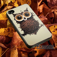 Cellphone,Accessories,Case,IPhone Case,Samsung Galaxy S3,Samsung Galaxy S4,IPhone 4/4s,Iphone 5/5s/5c,Rubber,Cover-Coffee Owl-V010716