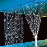 3M x 3M 300 LED Outdoor Party Christmas xmas String Fairy Wedding /Hotel/Festival Curtain Light 8 Modes for Choice