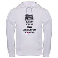 keep calm and listen to KPOP Hoodie