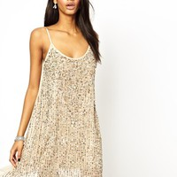 True Decadence Embellished Cami Slip Dress