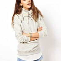 Maison Scotch Home Alone Sweatshirt with Wrap Hood