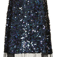 SEQUIN ORGANZA MIDI SKIRT