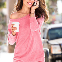 Fleece Off-the-Shoulder Tunic - Supermodel Essentials - Victoria's Secret