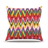 "Aimee St. Hill ""Painted Chevron"" Throw Pillow"