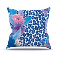 "Aimee St. Hill ""Leopard Blue"" Throw Pillow"