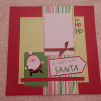 12x12 PreMade Santa Scrapbook Layout