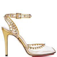 Soho Open-Toe Pump In Transparent Gold by Charlotte Olympia for Preorder on Moda Operandi