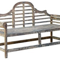 Charlotte Outdoor Bench, Gray