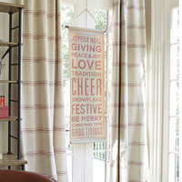 Good Tidings Holiday Sign Red | Ballard Designs