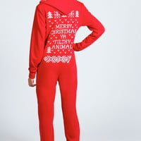 Lorna Ya Filthy Animal Christmas Onesuit