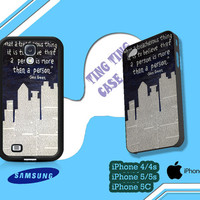 Paper Towns Quotes Case for iPhone 4/4S iPhone 5/5S/5C and Samsung Galaxy S3 S4