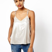 River Island Double Layer Metallic Cami