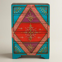 Turquoise Painted 5-Drawer Chest