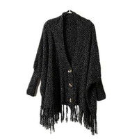 Bohemian Fringed Wool Cardigan from Girl Boutique