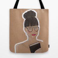 Glasses Tote Bag by Elisabet Martí