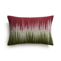 "Malabar Berry and Green 18""x12"" Pillow"