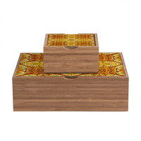 Chobopop Golden Panther Pattern Jewelry Box