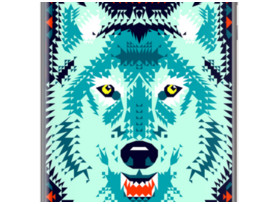 Geomeric Wolf By Chobopop for Apple iPhone 5