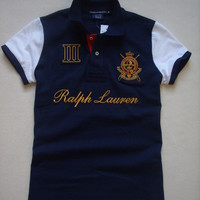 Women Ralph Lauren Sport Polo Shirt Navy Logo - Different Sizes - NWT