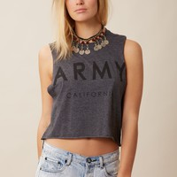 ARMY CALIFORNIA CROP MUSCLE TEE