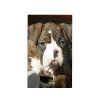 Boxer dog light switch cover