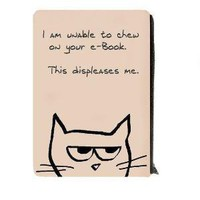 Kindle Keeper Nook EReader Case Angry Cat by FunkyChicDesigns