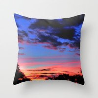 Orlando Suburban Sunset Throw Pillow by Sandy Moulder