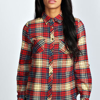 Kerry Brushed Check Tartan Roll Sleeve Shirt